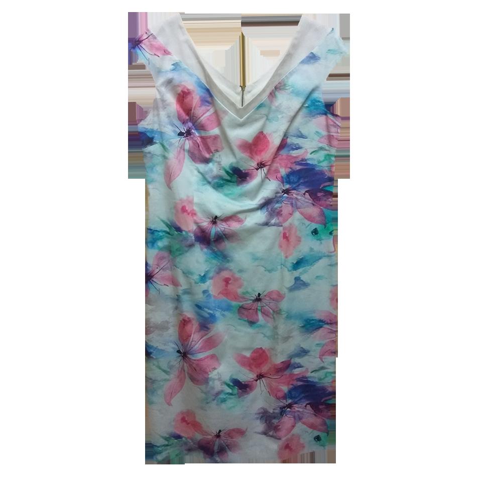 Casual κοντό φόρεμα σε ίσια γραμμή