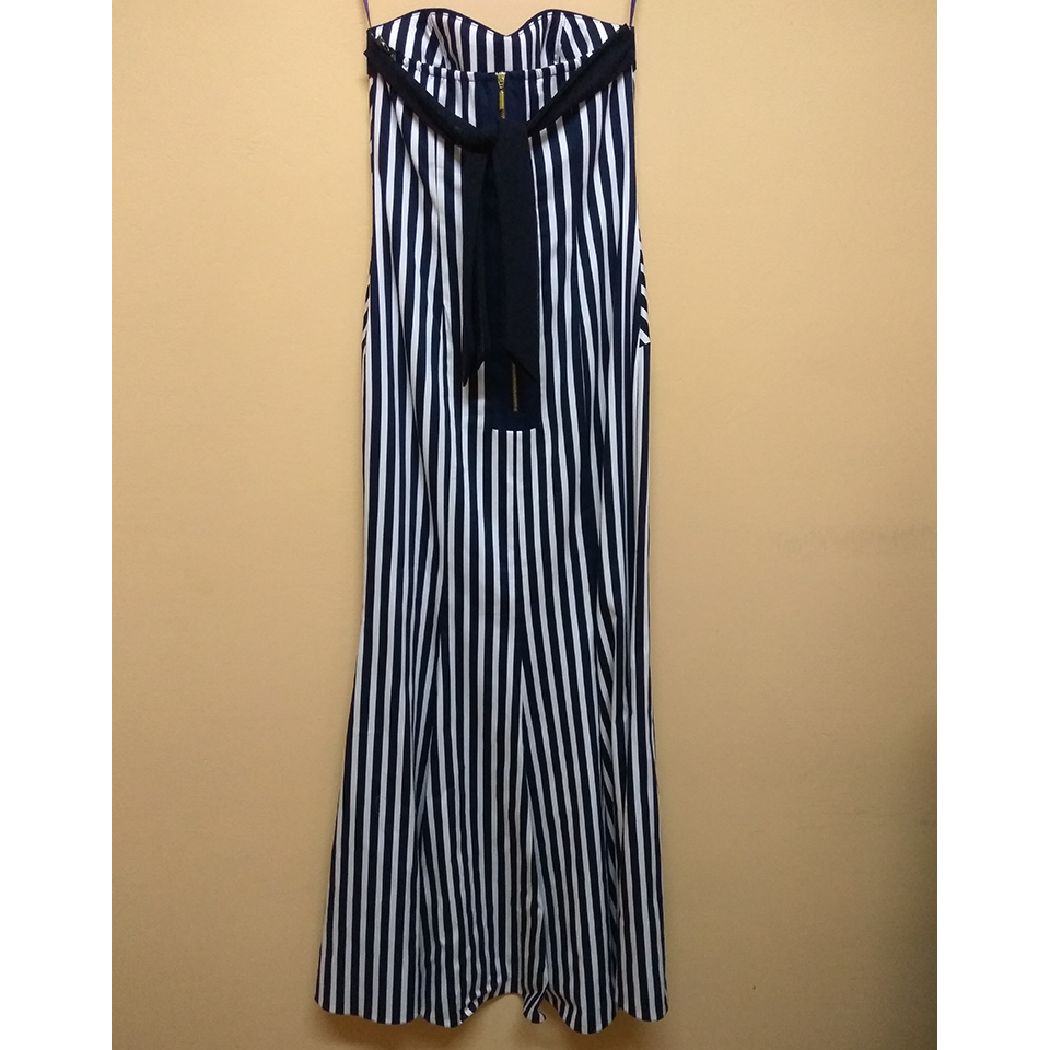 Long Striped Strike Dress On Line A