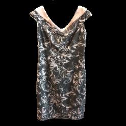 Κοντό floral φόρεμα με V λαιμόκοψη