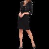 Μαύρο φόρεμα με ενσωματομένο καρώ μπολερό
