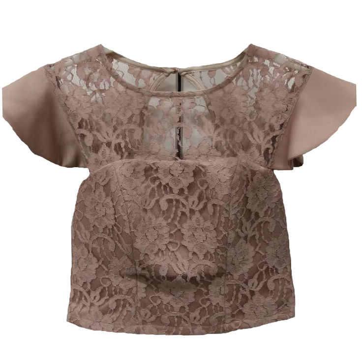Bust of lace with short sleeve