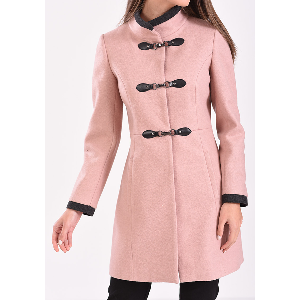 Γυναικείο παλτό με κουμπιά τύπου μοντγκόμερι  3ef38534970