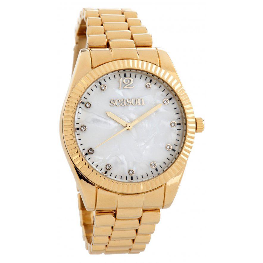 Women's watch 6-2-48-9 with gold bracelet
