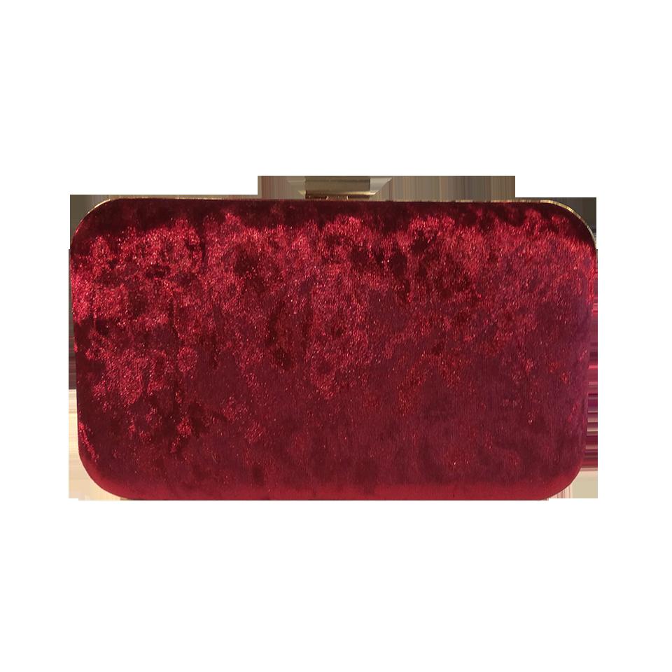 Βελούδινο clutch bag με χρυσό περίβλημα