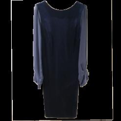 Βελούδινο φόρεμα με μακριά διάφανα μανίκια