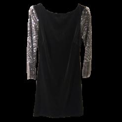 Βελούδινο κοντό φόρεμα με ιδιαίτερα μανίκια