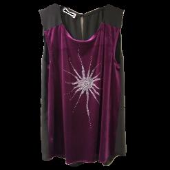 Βελούδινη μπλούζα με μεταλλιζέ τύπωμα