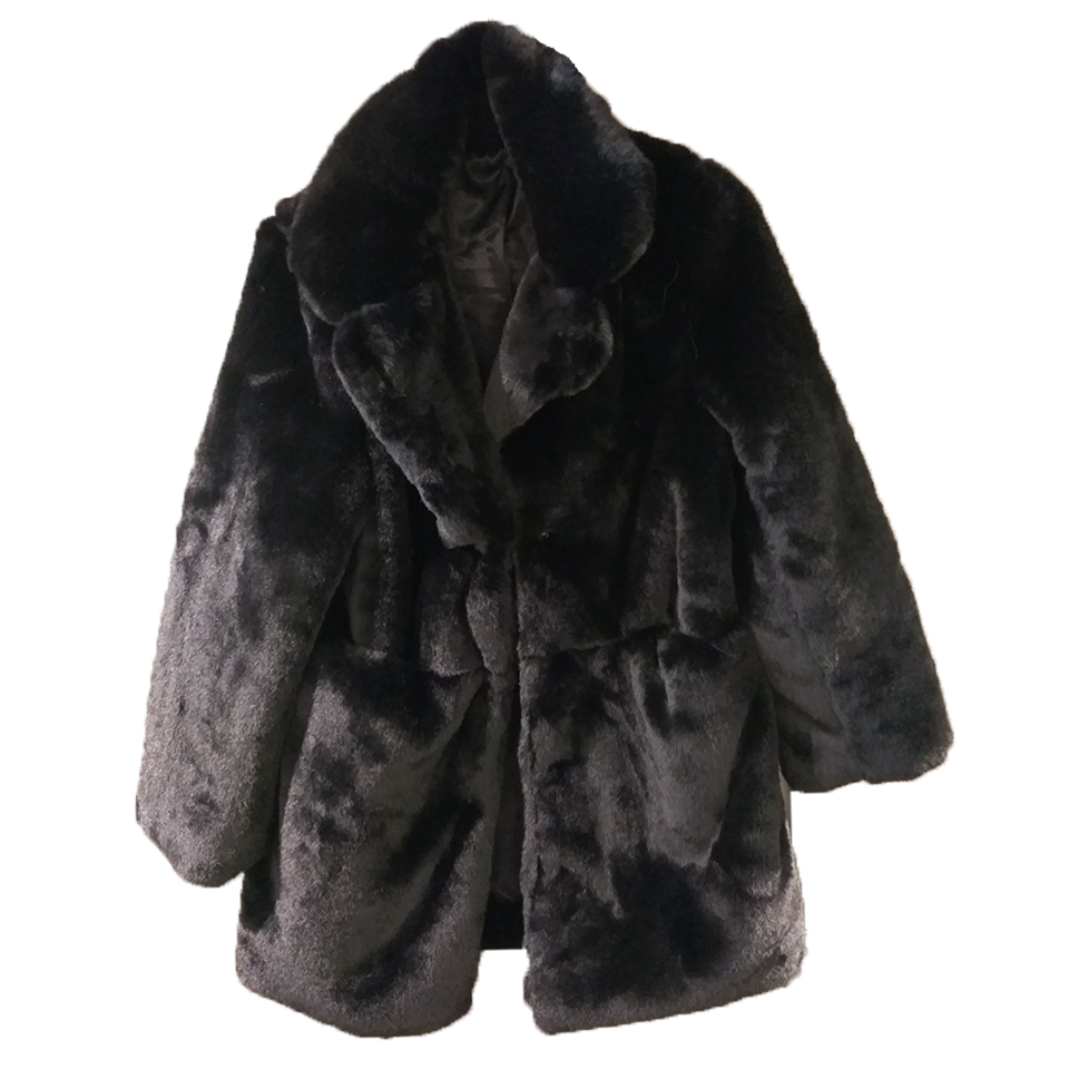 Women's fur with small collar and pockets