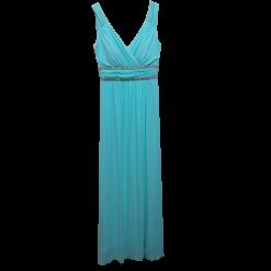 Maxi φόρεμα με άνοιγμα και strass