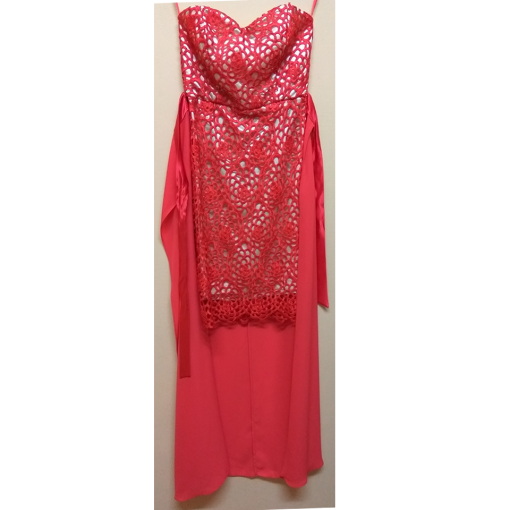 Mini dress strapless red by lace