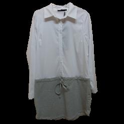 Γυναικείο πουκάμισο - φόρεμα με γιακά