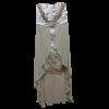 Ασύμμετρο strapless φόρεμα με δαντέλα