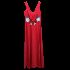 Maxi αμάνικο φόρεμα με διαφάνεια στην πλάτη