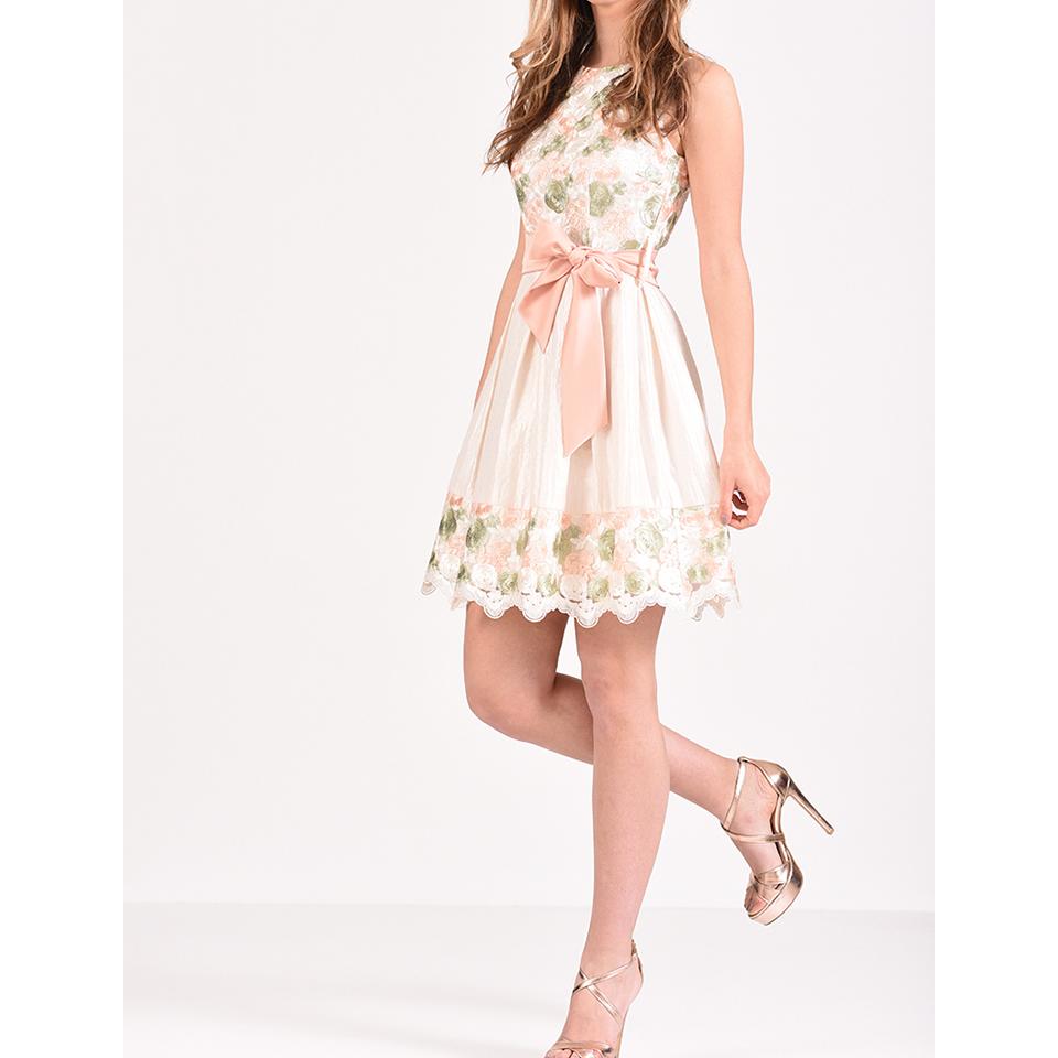 Mini φόρεμα φλοράλ σε Α γραμμή  a0e9019b5e9