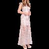 Μακρύ φόρεμα με δαντέλα και διαφάνεια