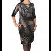 Κοντό φόρεμα με ανάγλυφο σχέδιο