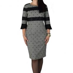 Φόρεμα κοντό με μακριά μανίκια και βολάν