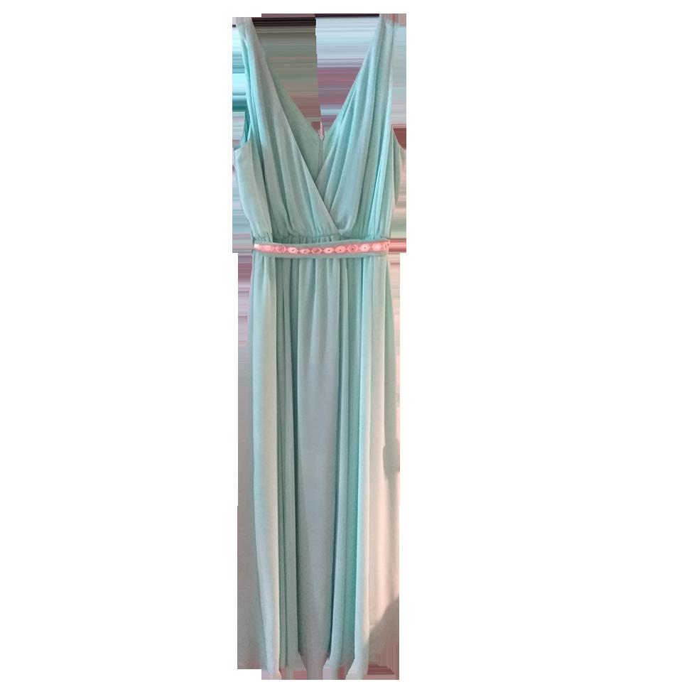 Maxi αρχαιοελληνικό φόρεμα με ζώνη