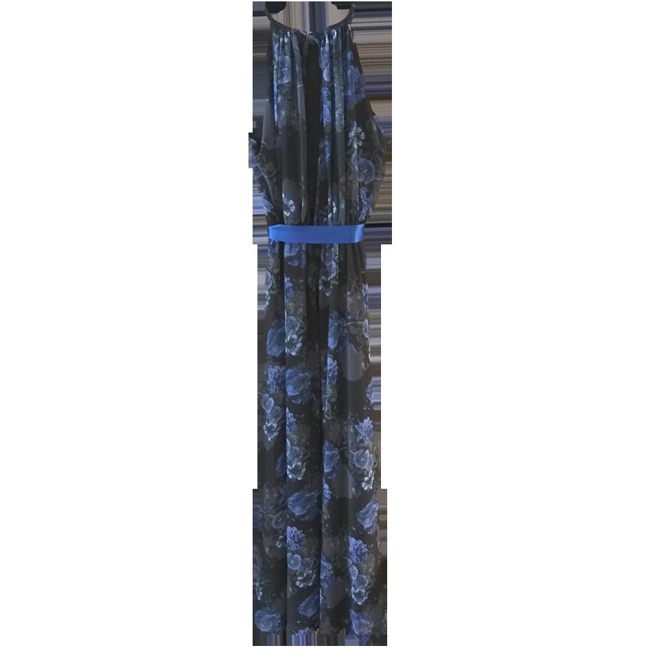 Maxi φόρεμα floral με άνοιγμα στην πλάτη