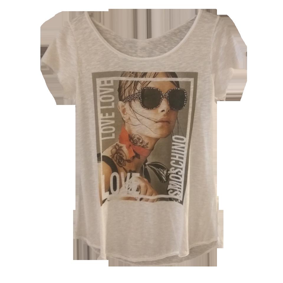 Βαμβακερή μπλούζα με ψηφιακό τύπωμα