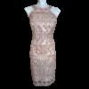 Αμάνικο κοντό φόρεμα σε ίσια γραμμή