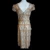 Mini φόρεμα χρυσό με μικρά μανίκια