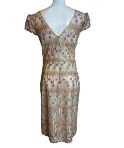 Mini gold dress with small sleeves