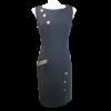 Αμάνικο κοντό φόρεμα με χρυσά κουμπιά