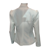 Women's fashionable white jacket