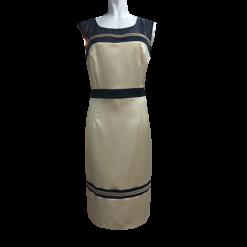 Κοντό φόρεμα με διαφάνεια και χρυσό κέντημα