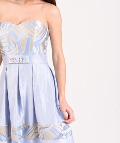 Mini strapless dress in A line