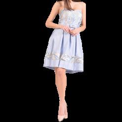 Mini φόρεμα strapless σε Α γραμμή