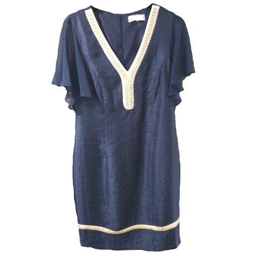 Mini dress with pearls in the neckline
