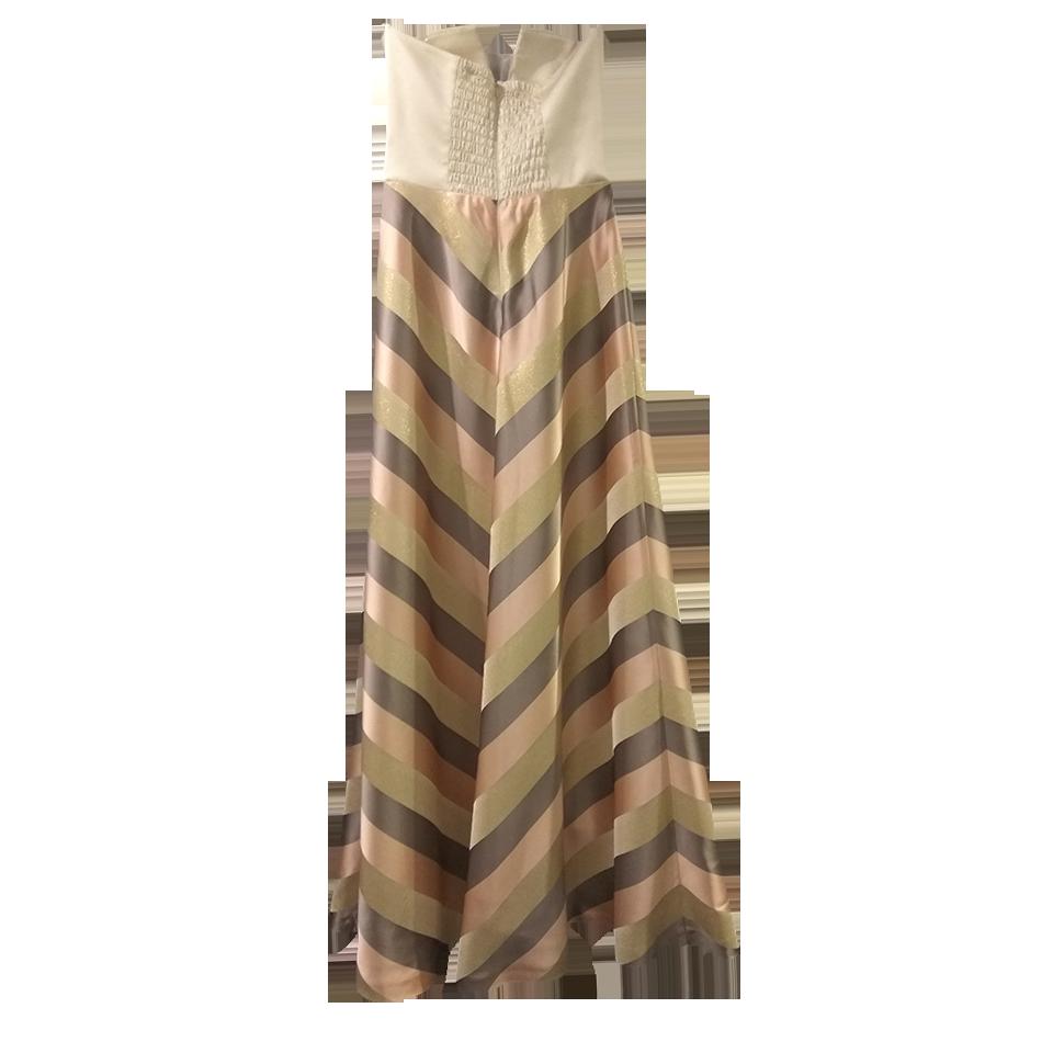 b5c531ed5bd2 Maxi φόρεμα strapless ριγέ σε Α γραμμή