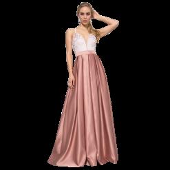 Maxi φόρεμα με λεπτές τιράντες και χιαστί πλάτη