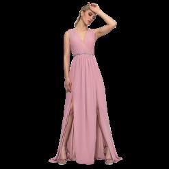 Maxi αέρινο φόρεμα με δύο ανοίγματα