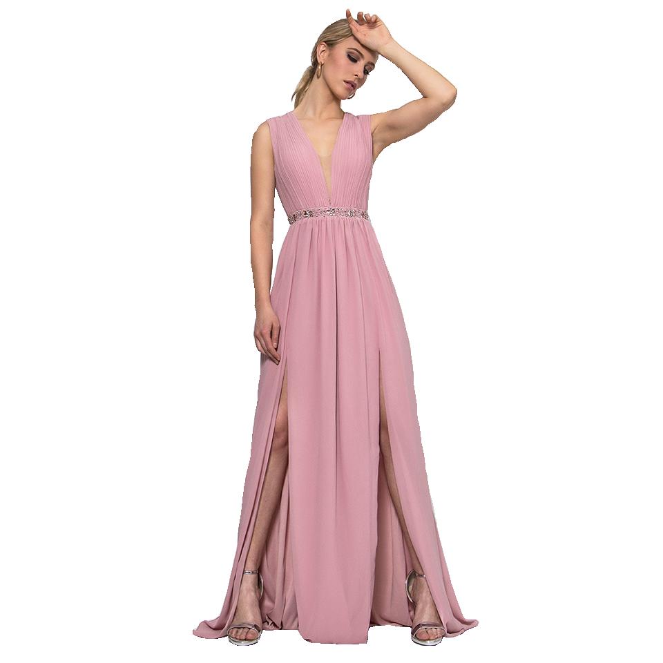 f2cbea1ef38 Maxi αέρινο φόρεμα με δύο ανοίγματα | Primadonna.com.gr