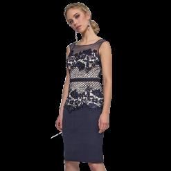 c3992534142b Mini φόρεμα το μισό από δαντέλα