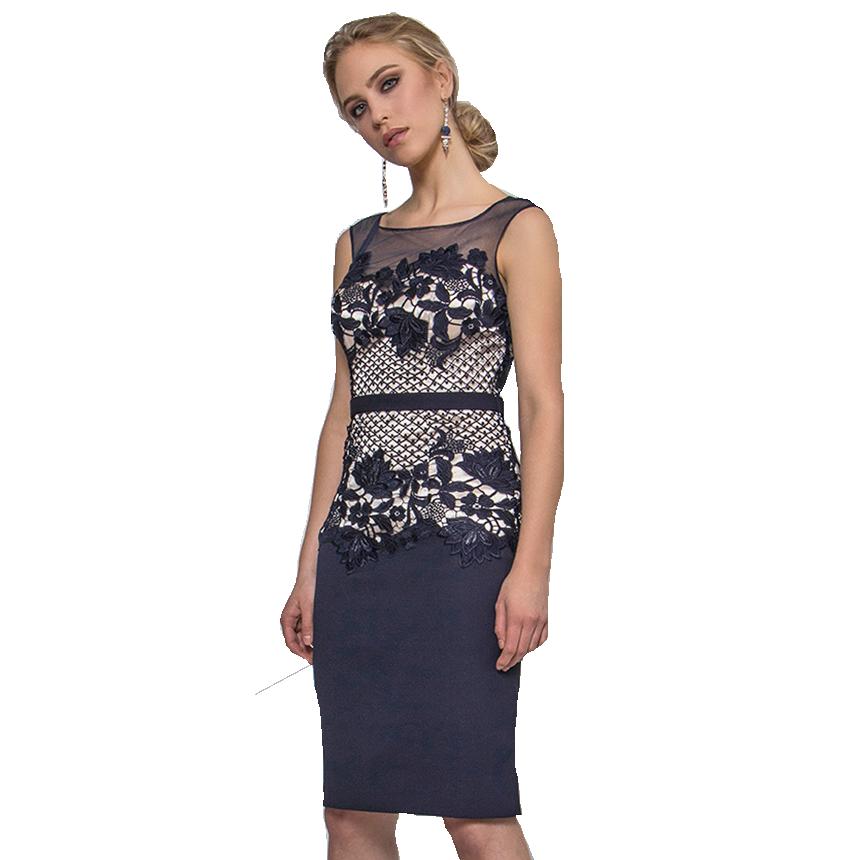 Mini φόρεμα το μισό από δαντέλα