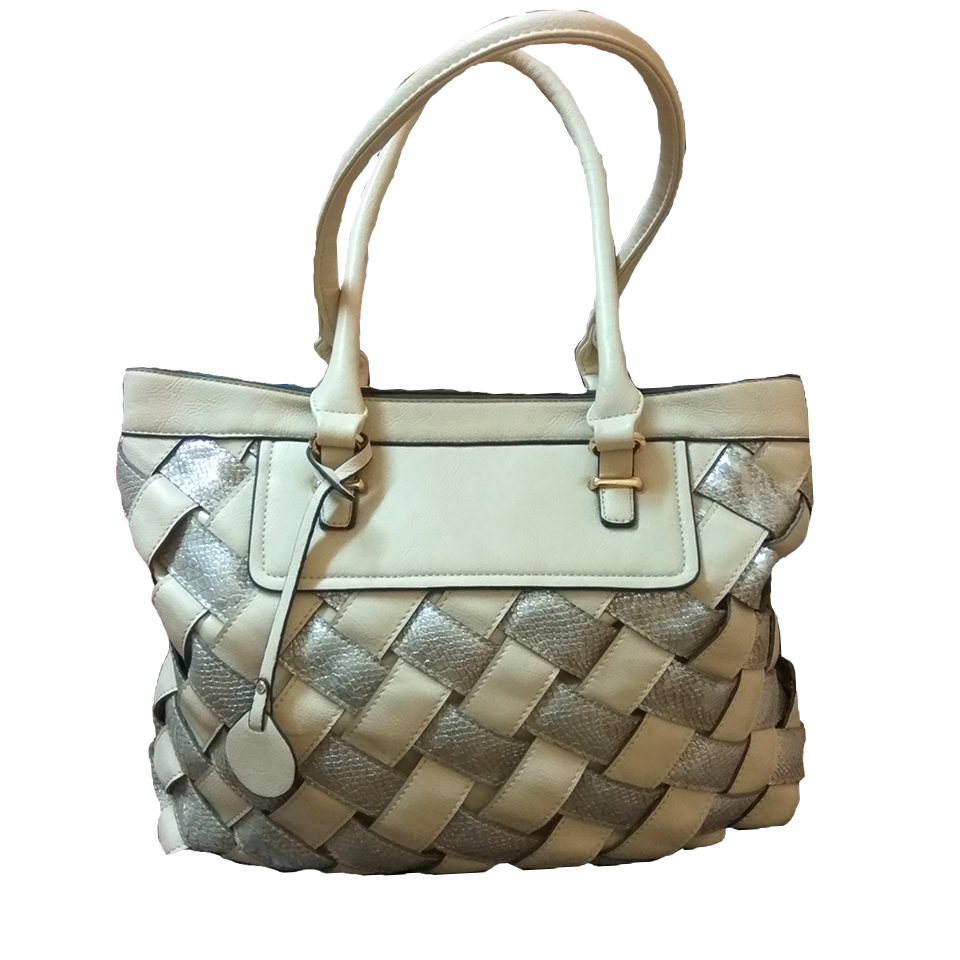 Bean shoulder bag in beige color