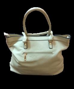 Γυναικεία τσάντα ώμου σε χρώμα μπέζ