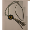 Handmade eye necklace with beads
