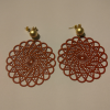Red earrings with gold clasp