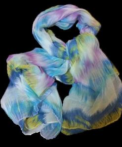 Γυναικείο φουλάρι εμπριμέ σε χρώμα μώβ