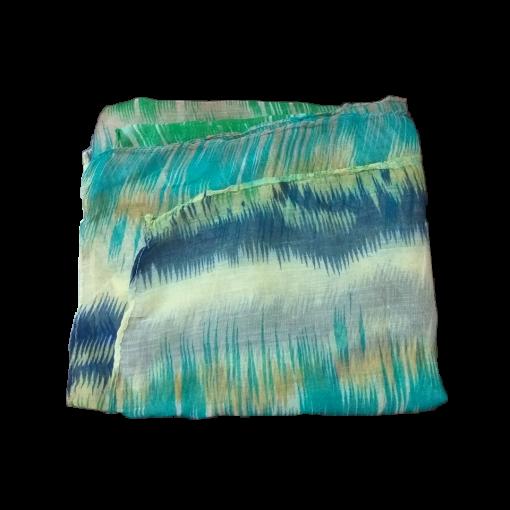 Γυναικείο φουλάρι εμπριμέ σε χρώμα πετρόλ