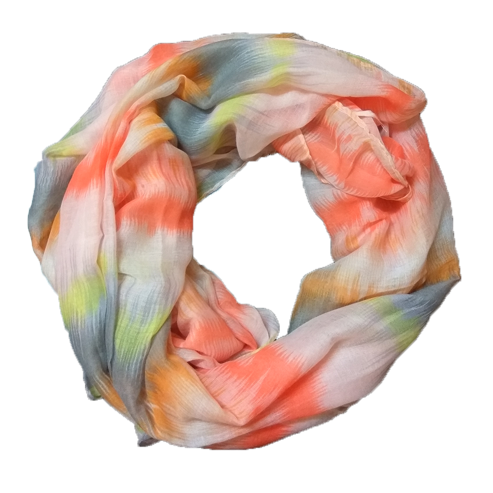 Women's scarf in orange color