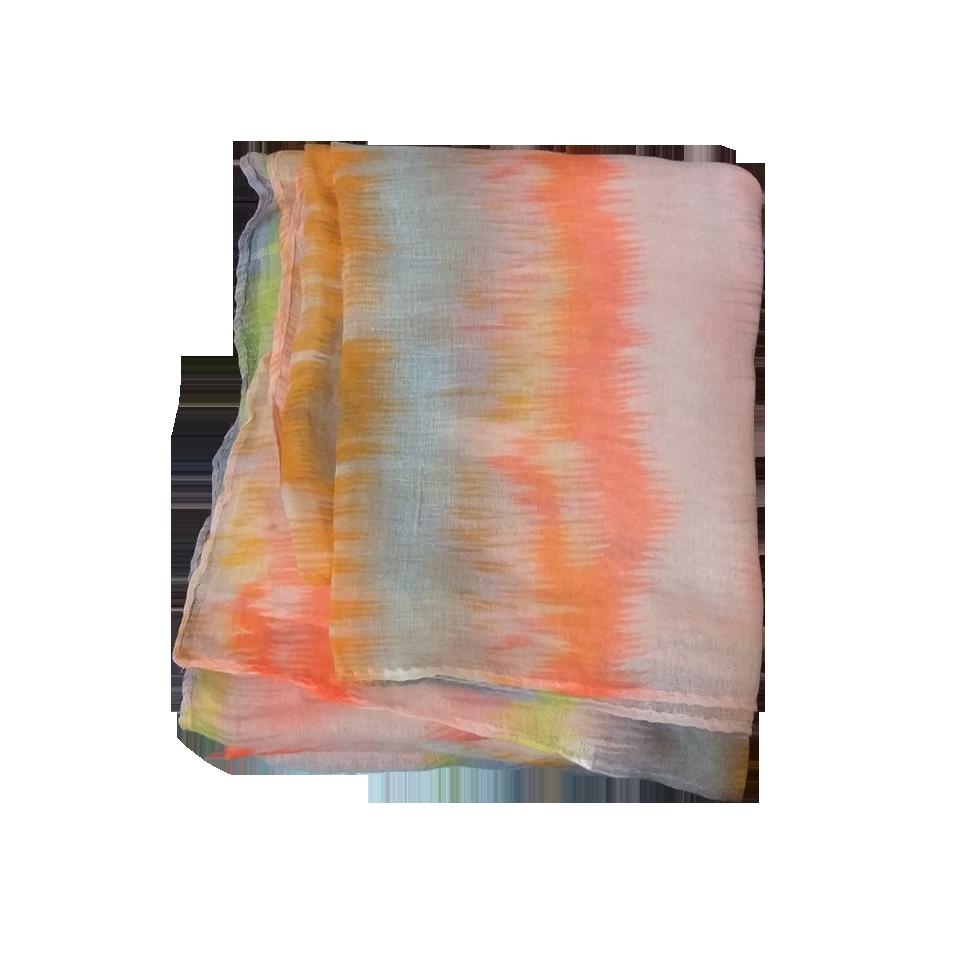 Women's scarf in orange color