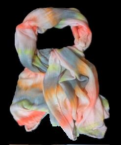 Γυναικείο φουλάρι εμπριμέ σε χρώμα πορτοκαλί