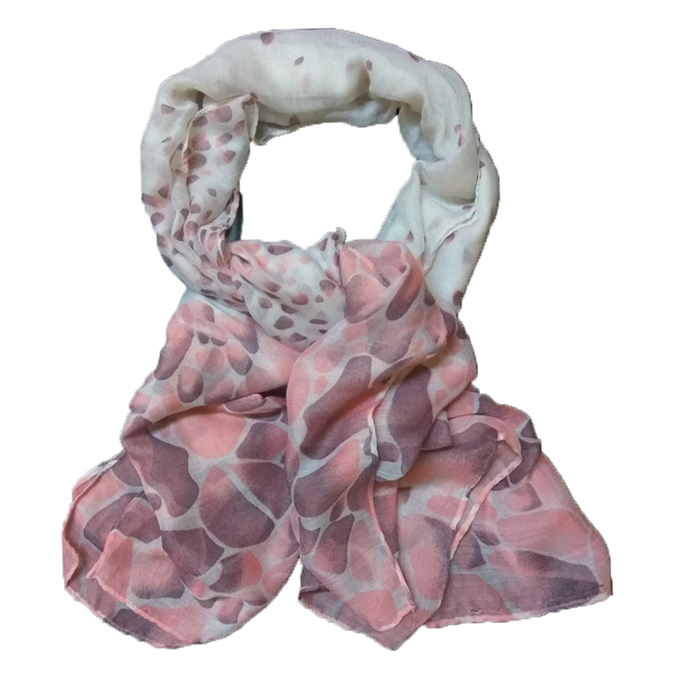 Γυναικείο φουλάρι πουά σε χρώμα μπορντώ