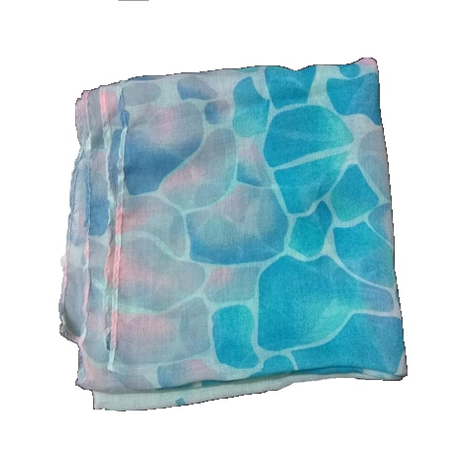 Women's scarf in color petroleum